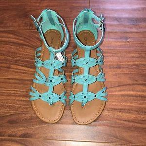 Falls creek blue/turquoise sandals size 11